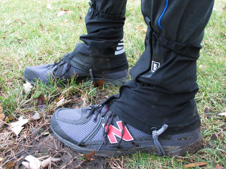 New Balance MT100 Trail Running Shoes with REI Trail Running Gaiters