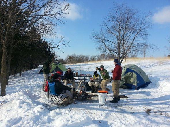 Afton Winter Camping