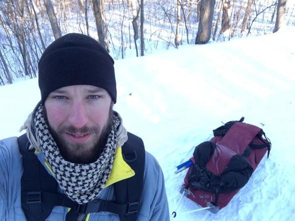 Afton Winter Camp Pulk