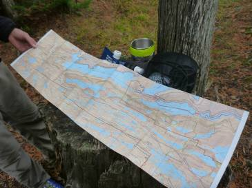 Border Route Trail Topo Map